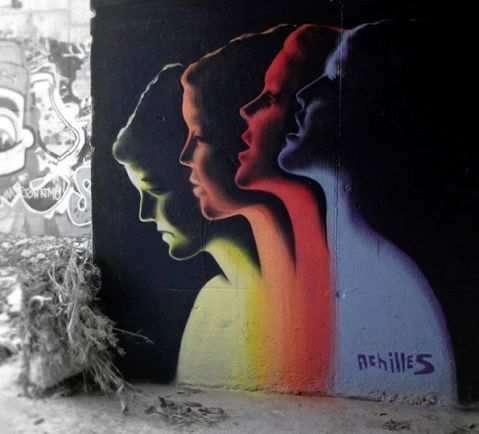 "Achilles street artist -- ""Breath"" Graffiti in Athens — at Xalandri."