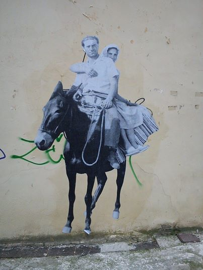 "Artist: SOX --- Greece --- http://sox.gr/filter/street-art --- http://sox.gr/filter/street-art ""I Will Rise Again"", paste up project --- Anonymous Photos from Costas Roussis --- Photocopies and wheat paste"