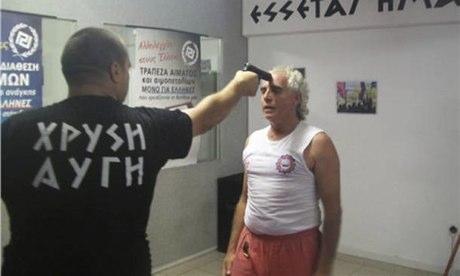 From the cache of photographs that has been handed by police to a Greek public prosecutor investigating Golden Dawn's alleged illegal activities